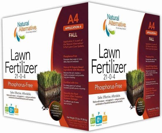 Natural Alternative Fall Lawn Fertilizer 21-0-4