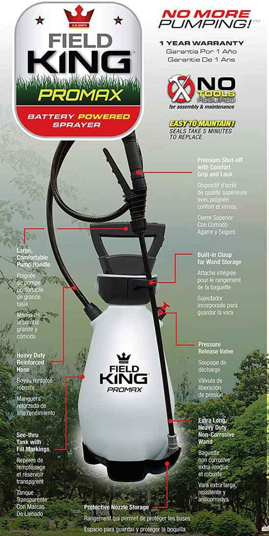 Field King 190571 Lithium Ion Battery Powered Pump Zero Technology Sprayer 2