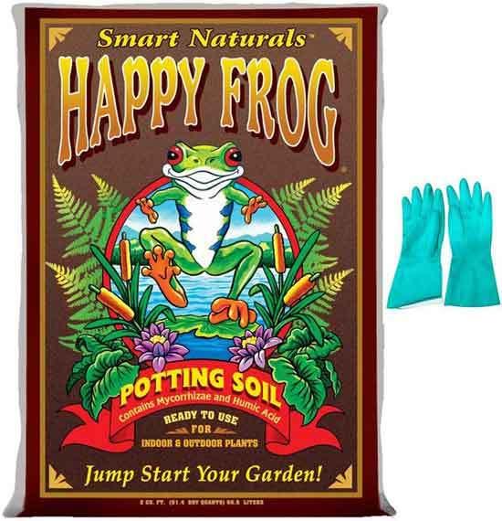 Fox Farm Happy Frog Organic Potting Soil Mix Indoor Outdoor Garden Plants