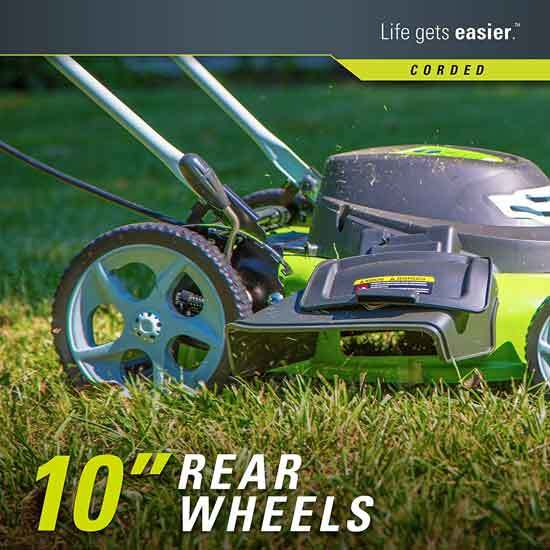 GreenWorks 20 Inch 12 Amp Corded Electric Lawn Mower 25022 2