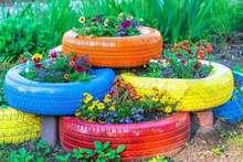 Tyre Garden Beds