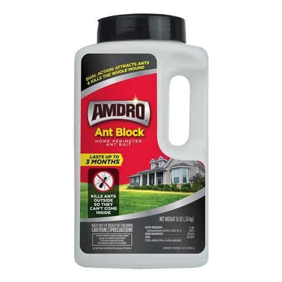 AMDRO Ant Block Home Perimeter Ant Bait Granules Outdoor Ant Killer 12 oz