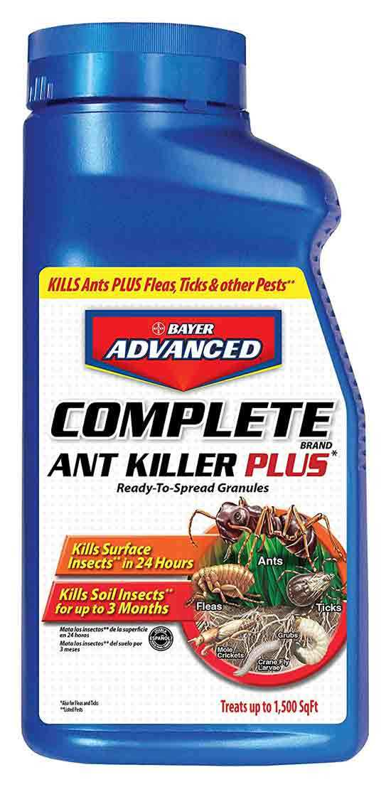 Bayer Advanced Complete Ant Killer Plus Science Based Solutions Kills Fleas Ticks Spiders Cockroaches 1.5 Pound Granules