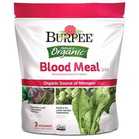 Burpee Organic Blood Meal Fertilizer 3 lb