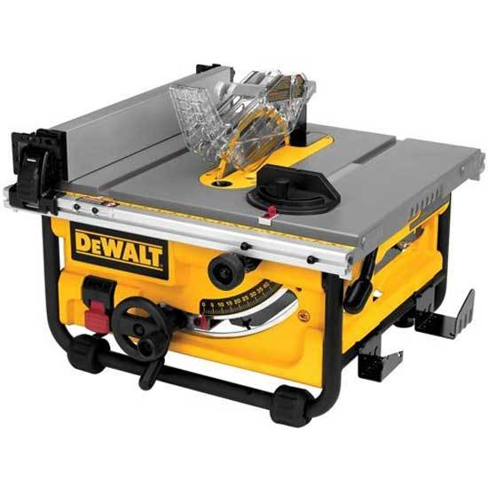 DEWALT Compact Job Side Table Saw with Site Pro Modular Guarding System
