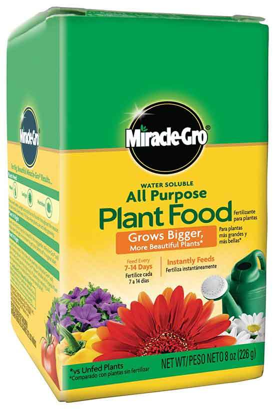Miracle Gro Water Soluble All Purpose Plant Food 8 oz