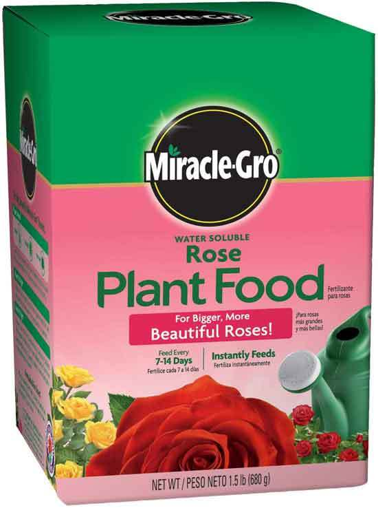 Miracle Gro Water Soluble Rose Plant Food 1.5 lb.