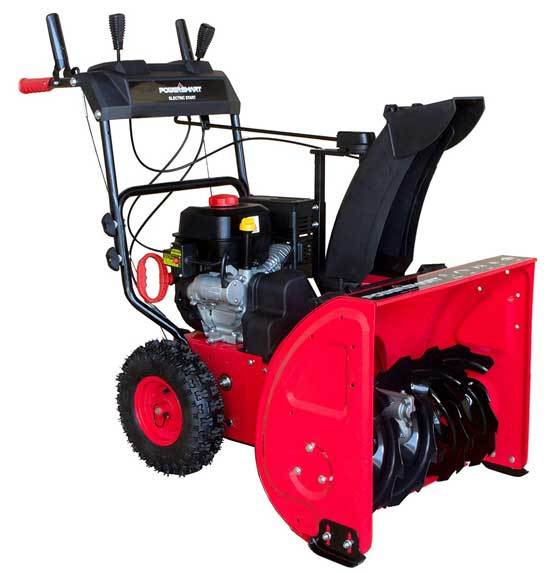 PowerSmart DB7624E 24 in. 212cc 2 Stage Electric Start Gas Snow Blower