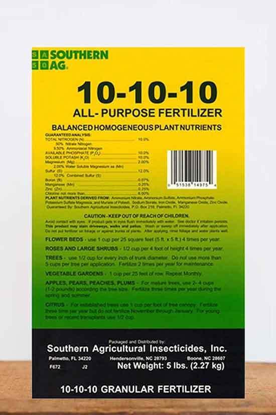 Southern Ag All Purpose Granular Fertilizer 10 10 10 5 LB