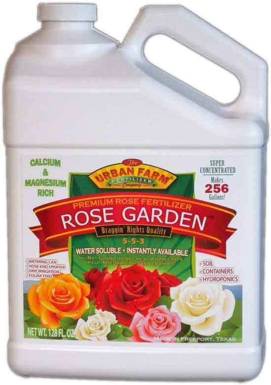 Urban Farm Fertilizers Rose Garden Professional Rose Fertilizer. 1 Gallon. Makes 256 gals.