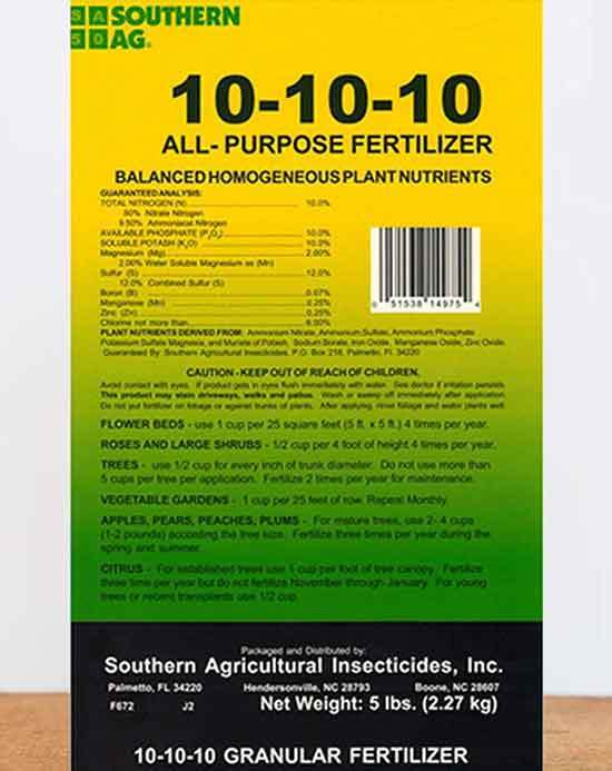 Southern Ag All Purpose Granular Fertilizer 10 10 10