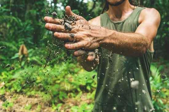 hand soil