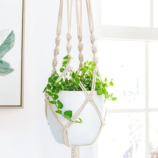 Best Planters Mkono Macrame Plant Hanger Indoor Outdoor Hanging Planter Basket Review.