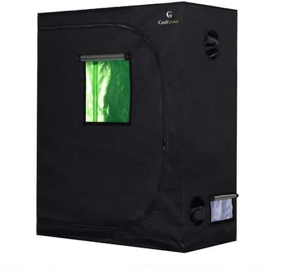 CoolGrows Grow Tent 48x24x60 Mylar Hydroponic Grow Tent