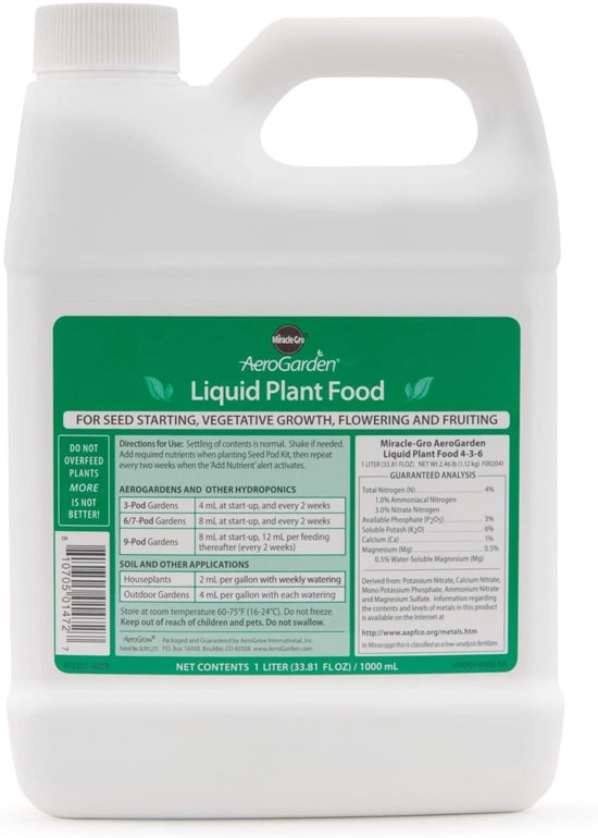 How do plants eat Aero Garden Liquid Nutrients 1 liter