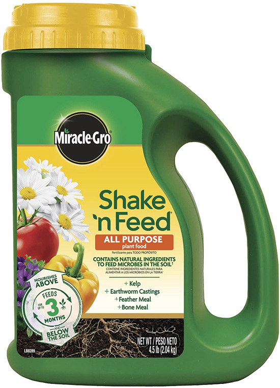 How do plants eat Miracle Gro Shake N Feed All Purpose Plant Food 4.5 lb