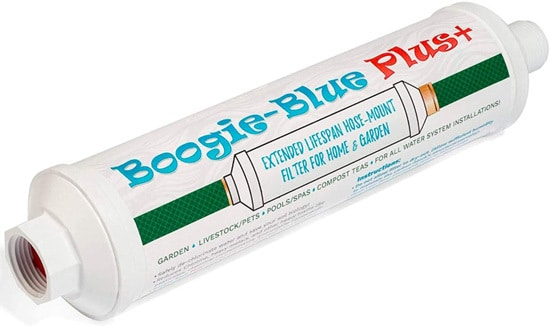 Boogie Blue Plus Garden Hose Water Filter For RV And Outdoor Use Best 6 Garden Hose Filters