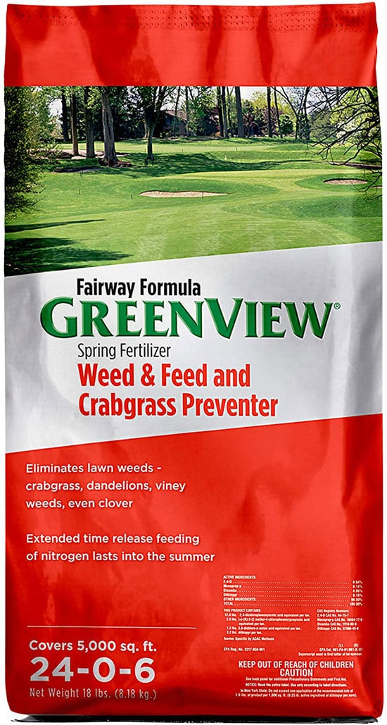 GreenView 2129267 Weed and Feed with Crabgrass Preventer