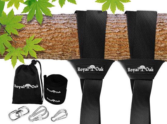 Royal Oak Easy Hang 12FT Tree Swing Strap X2 Best Rope for Tree Swing