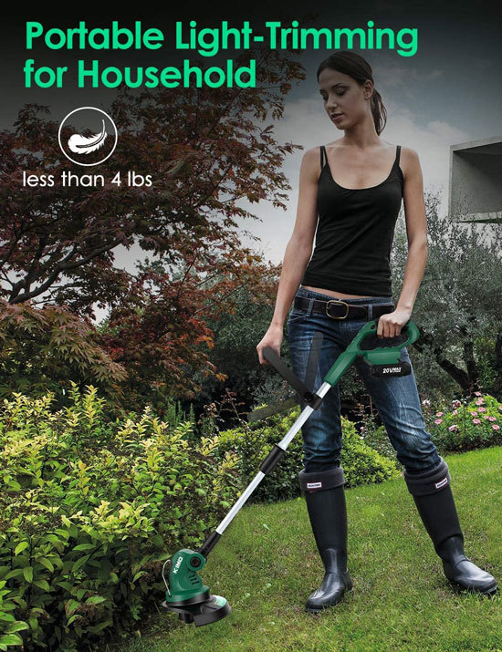KIMO Multi Angle Cordless Commercial Lithium ion Battery Powered Weed Eater Best Commercial Weed Eater 2