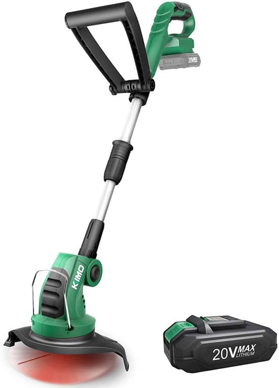 KIMO Multi Angle Cordless Commercial Lithium ion Battery Powered Weed Eater Best Commercial Weed Eater