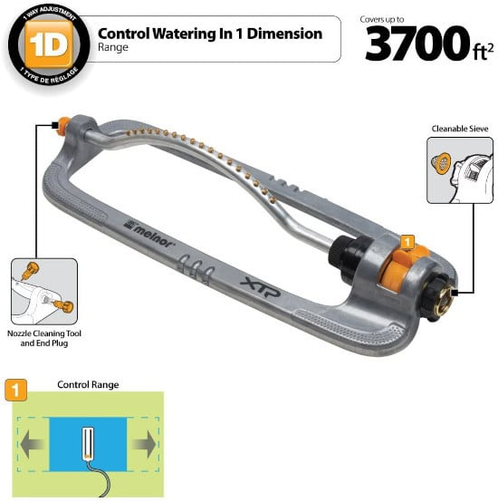 Melnor XT360M XT Oscillating Metal Turbo Sprinkler Best Oscillating Sprinklers