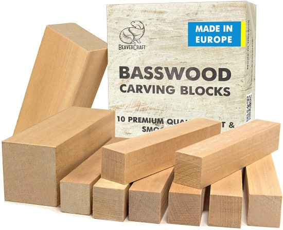 BeaverCraft Basswood BW10 Wood for Carving Best Wood for Carving