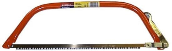 GreatNeck Orange BB24 24 Inch Bow Steel Frame Saw Best Bow Saw