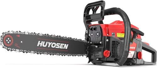 HUYOSEN 54.6CC 2 Stroke Professional Gas Powered Chainsaw Best Professional Chainsaw