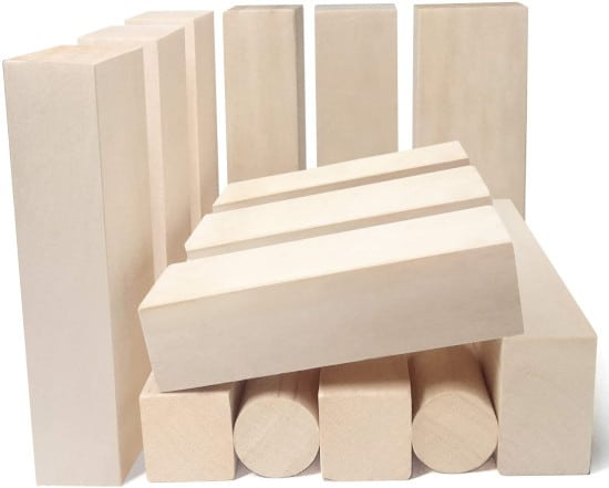 JSPYFITS 14 PCS Smooth Whittling Wood for Carving Best Wood for Carving