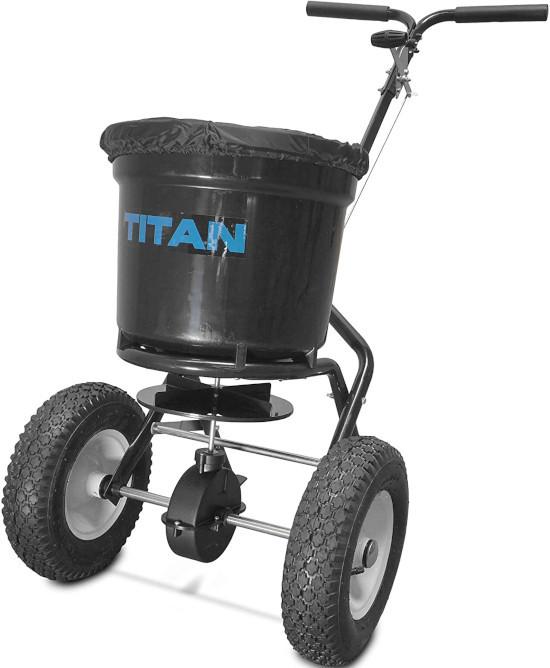 Titan 50 Lb Lawn Care Broadcast Spreader Best Broadcast Spreader