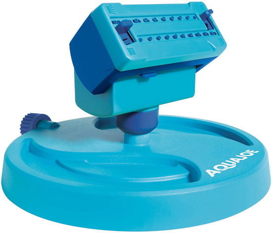 Aqua Joe 20 Nozzle Adjustable Gear Driven AJ OSPR20 Oscillating Lawn Sprinkler Best Oscillating Lawn Sprinkler