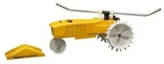 Garden Supplies Watering Auto ShutOff Traveling Cast Iron Sprinkler Best Traveling Sprinkler