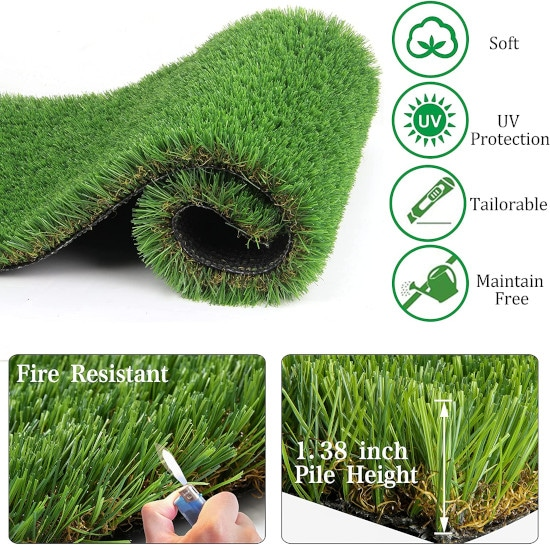 AGOOL 6.9 Sq. FT Synthetic Mulch Eco Friendly for Playground Best Mulch for playground 2