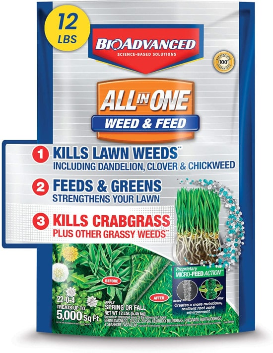 BioAdvanced 100532518 All in One Weed and Feed Best Weed and Feed Products