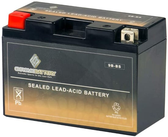 CB Chrome Battery Rechargeable 9B BS Maintenance Free Lawn Mower Battery Best Lawn Mower Battery