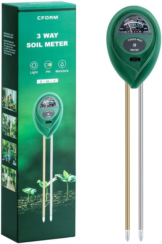 CFORM 3 in 1 Soil pH Tester Best soil pH Tester Listing