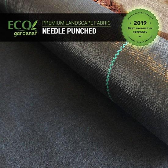 ECOgardener 5oz Pro Garden Premium Heavy Duty Weed Barrier Best Weed Barrier