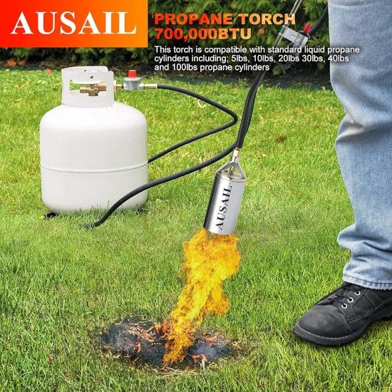 AUSAIL Heavy Duty 700000 BTU Propane Ergonomic Torch Best Propane Torch 2