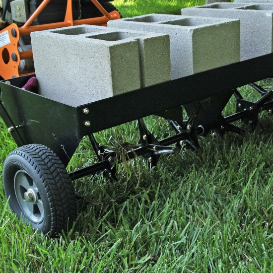 Brinly 40 Inch Tow Behind Plug Lawn PA 40BH Aerator Best Lawn Aerator 2