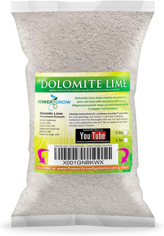 Dolomite Lime Pure Dolomitic Calcitic Garden Lime How To Raise Ph In Soil Fast