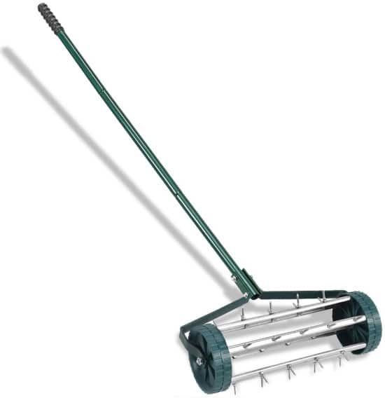Goplus 18 inch Heavy Duty Rolling Lawn Aerator Best Lawn Aerator