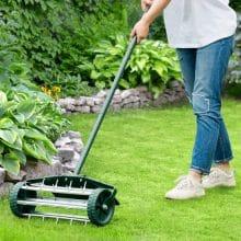 Goplus Heavy Duty 18 inch Rolling Lawn Aerator Best Lawn Aerator 2