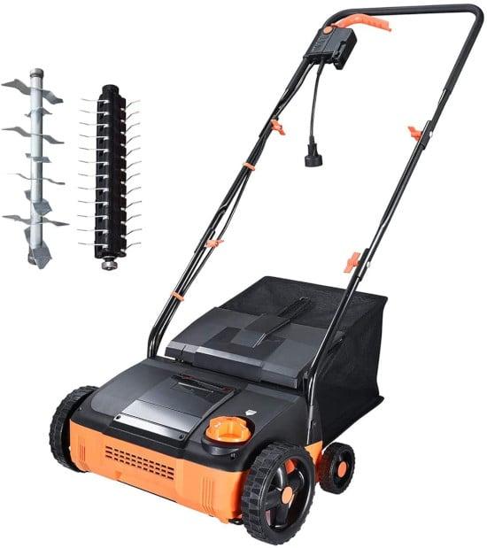 Hattomen 11 Amp Electric Lawn 12 Inch Aerator Best Lawn Aerator