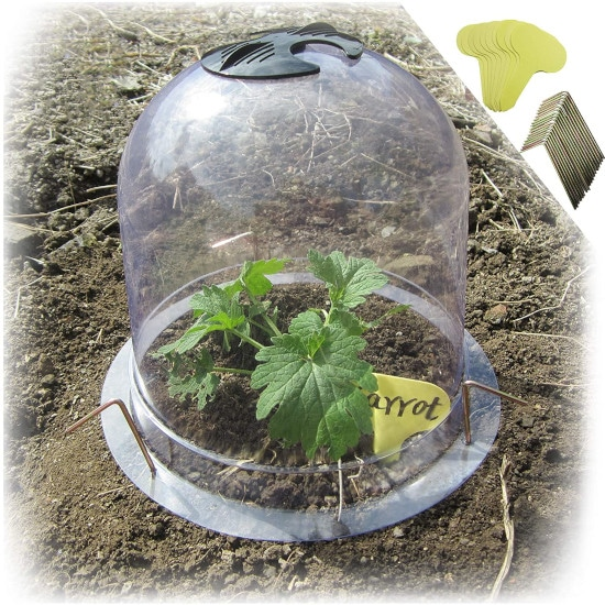 SYITCUN Protective Garden Cloche Reusable Plastic How To Cover Plants For Frost