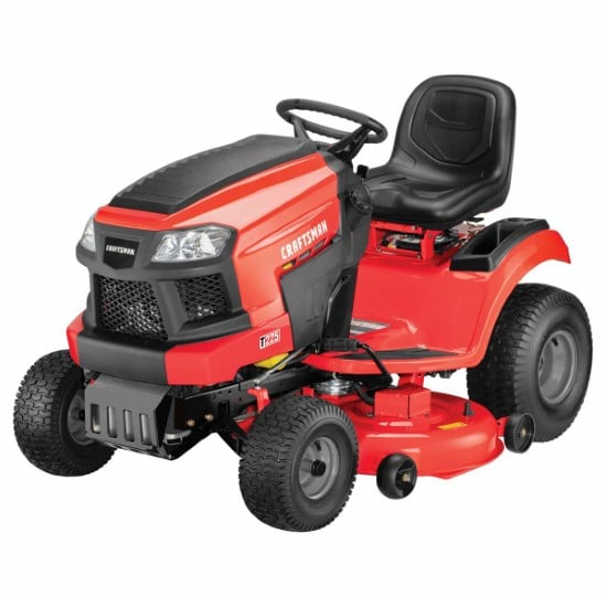 Craftsman Briggs Stratton T225 Gas Powered Riding 19 HP Lawn Mower Best Riding Lawn Mower For Hills