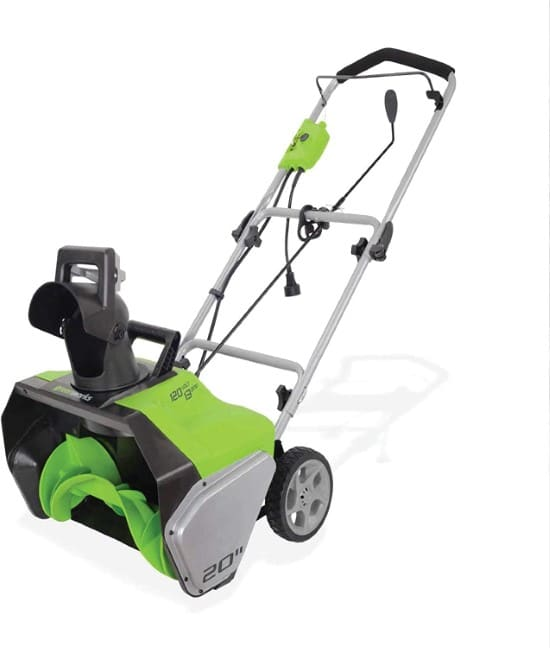 Greenworks 2600502 20 Inch Corded Single Stage Snow Blower Best Single Stage Snow Blower
