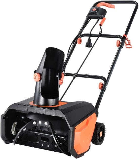 Hattomen 18 Inch 180° Rotatable Single Stage Snow Blower Best Single Stage Snow Blower
