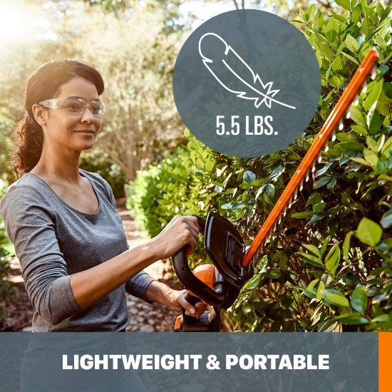 WORX WG261.9 20V Power Share Cordless Hedge Trimmer Best Electric Hedge Trimmer 2