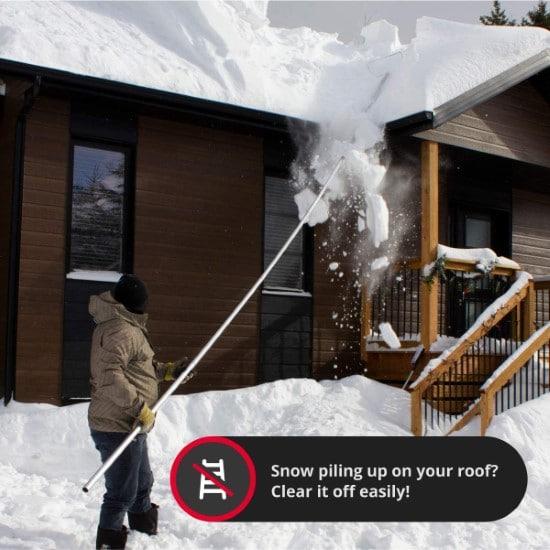 SNOWPEELER Aluminum Heavy Duty Roof Rake Best Roof Rake 2